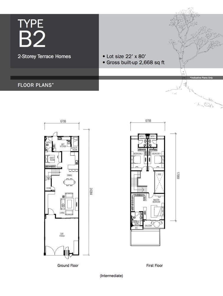 Lyden Type B2 Floor Plan