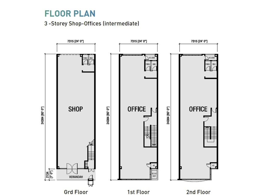 Sierra Zentro 1 Typical Unit Floor Plan