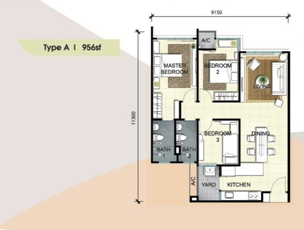 Savanna Executive Suites Type A Floor Plan
