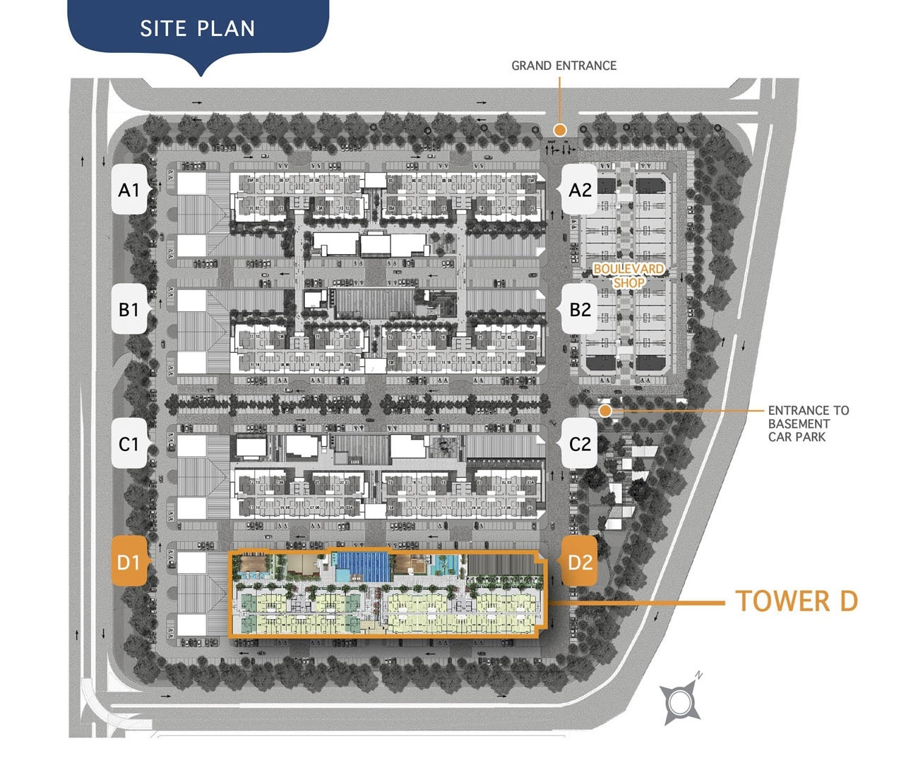 Site Plan of Savanna Executive Suites
