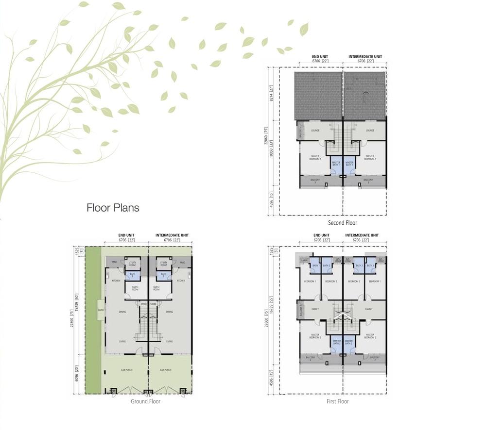 Avens Residence 2.5 Storey Link House Floor Plan