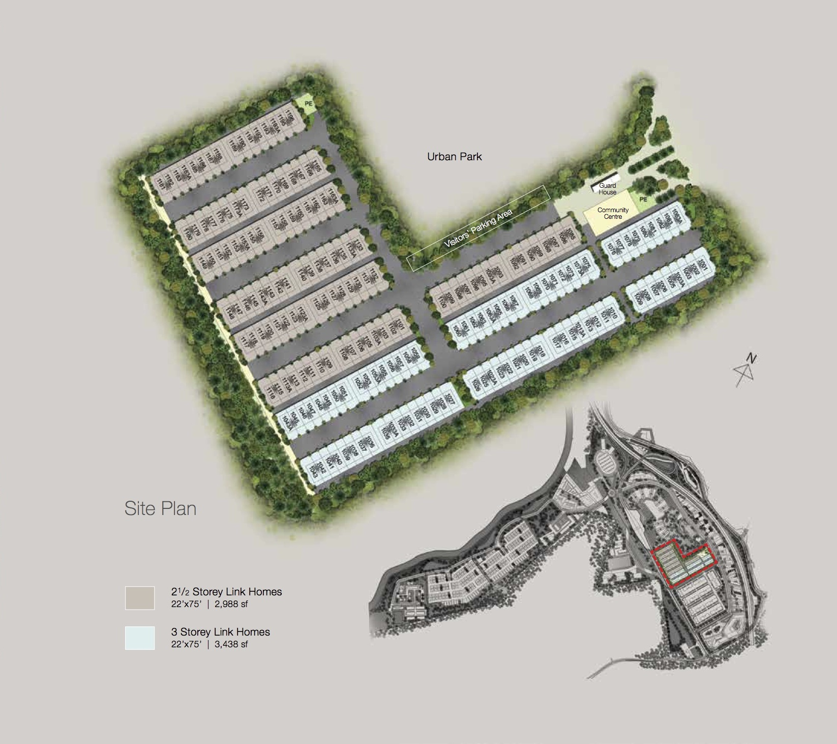 Site Plan of Avens Residence