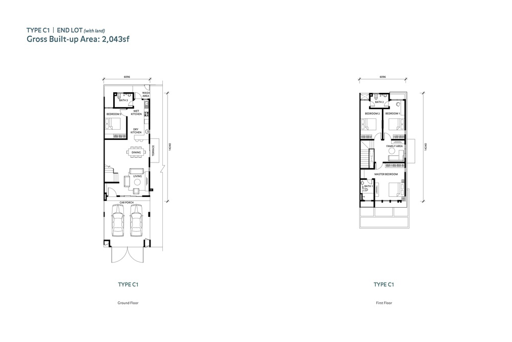 Nafiri Type C1 Floor Plan