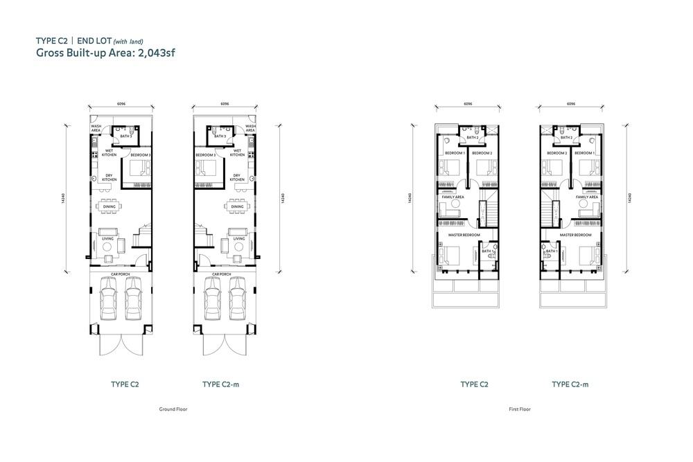 Nafiri Type C2 Floor Plan