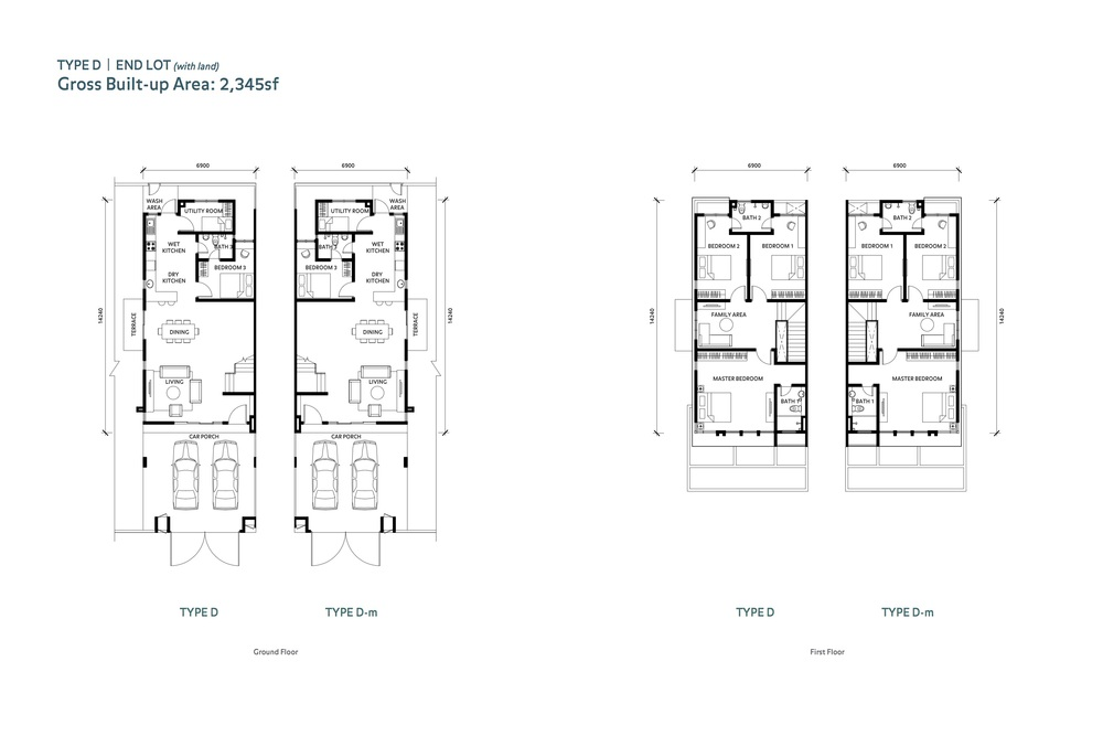 Nafiri Type D Floor Plan