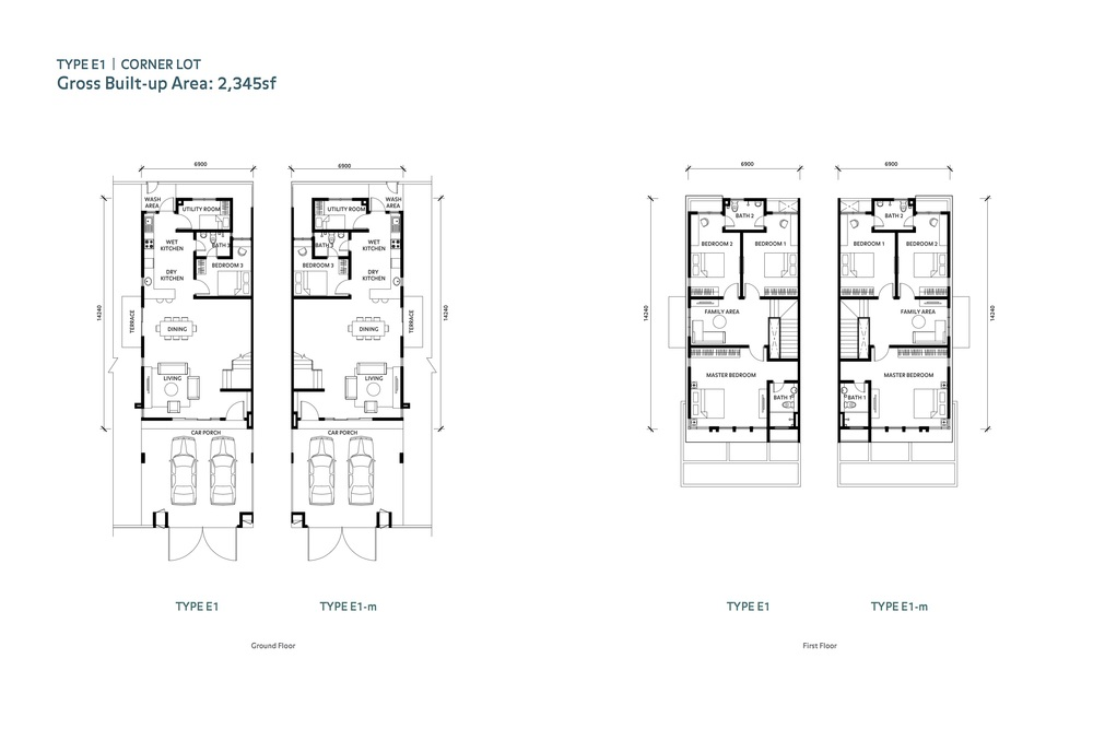 Nafiri Type E1 Floor Plan