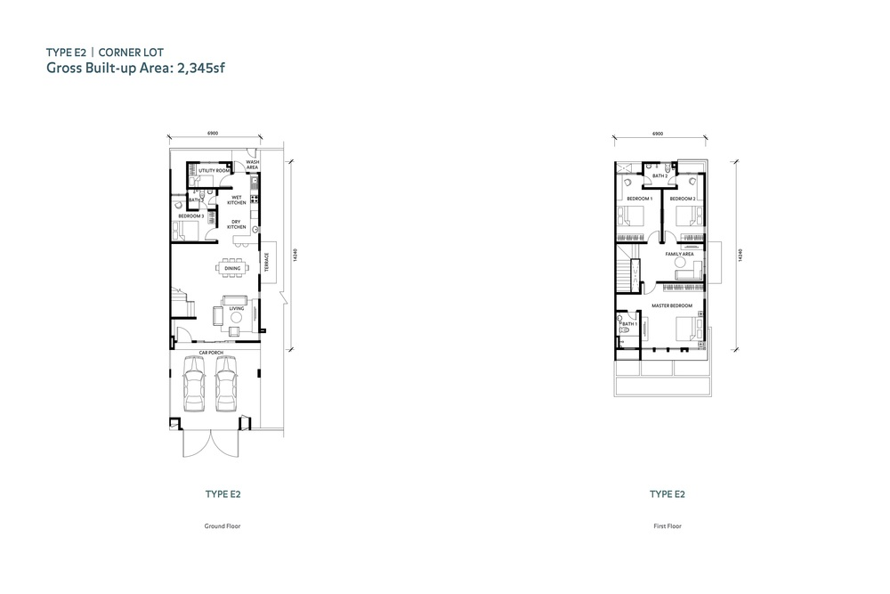 Nafiri Type E2 Floor Plan