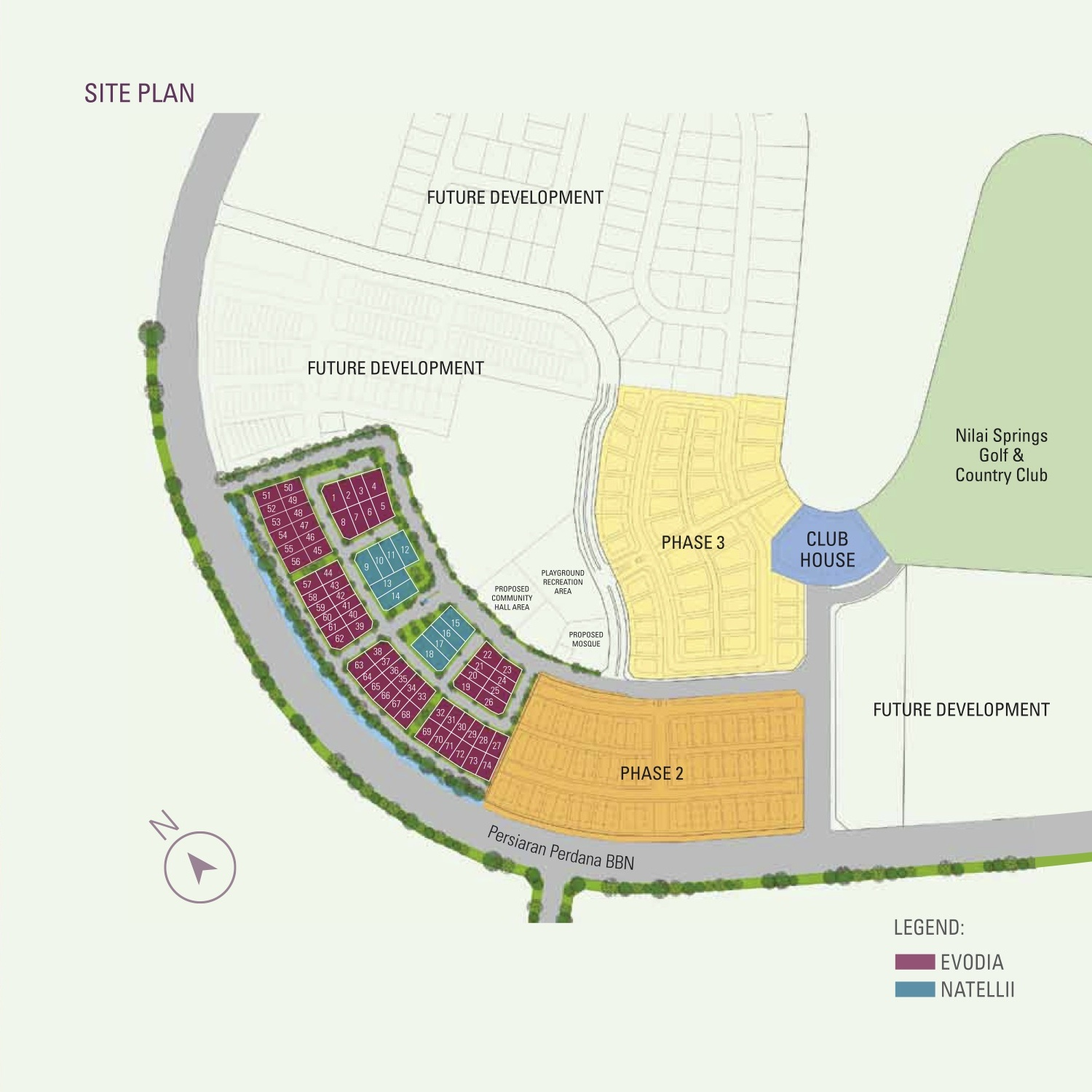 Site Plan of Damai Floresta