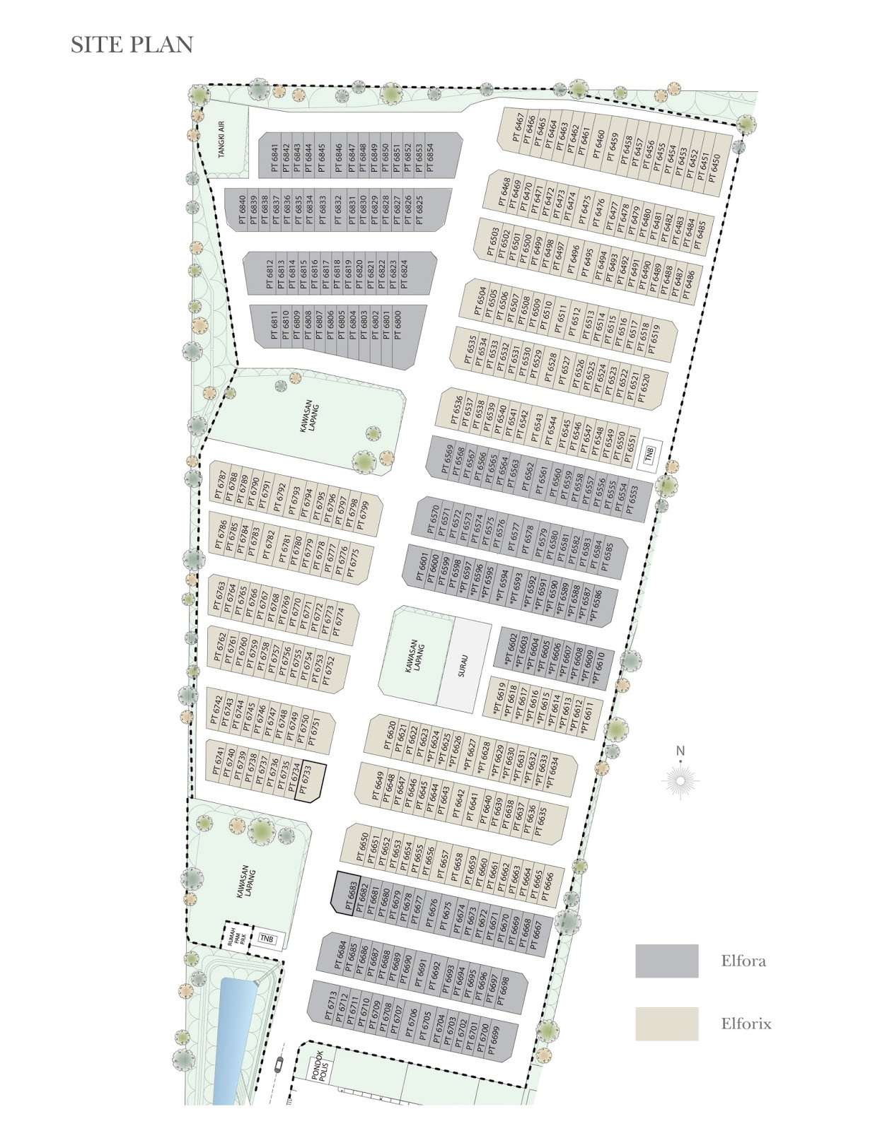 Site Plan of Suriaman 3