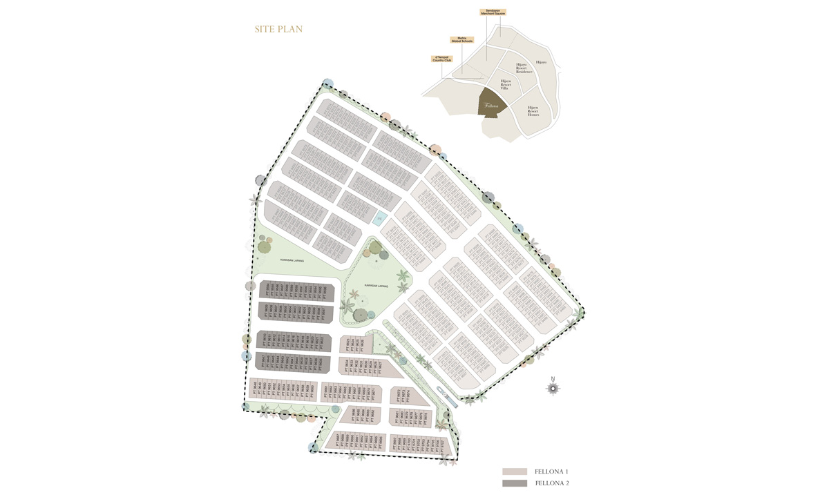 Site Plan of Fellona
