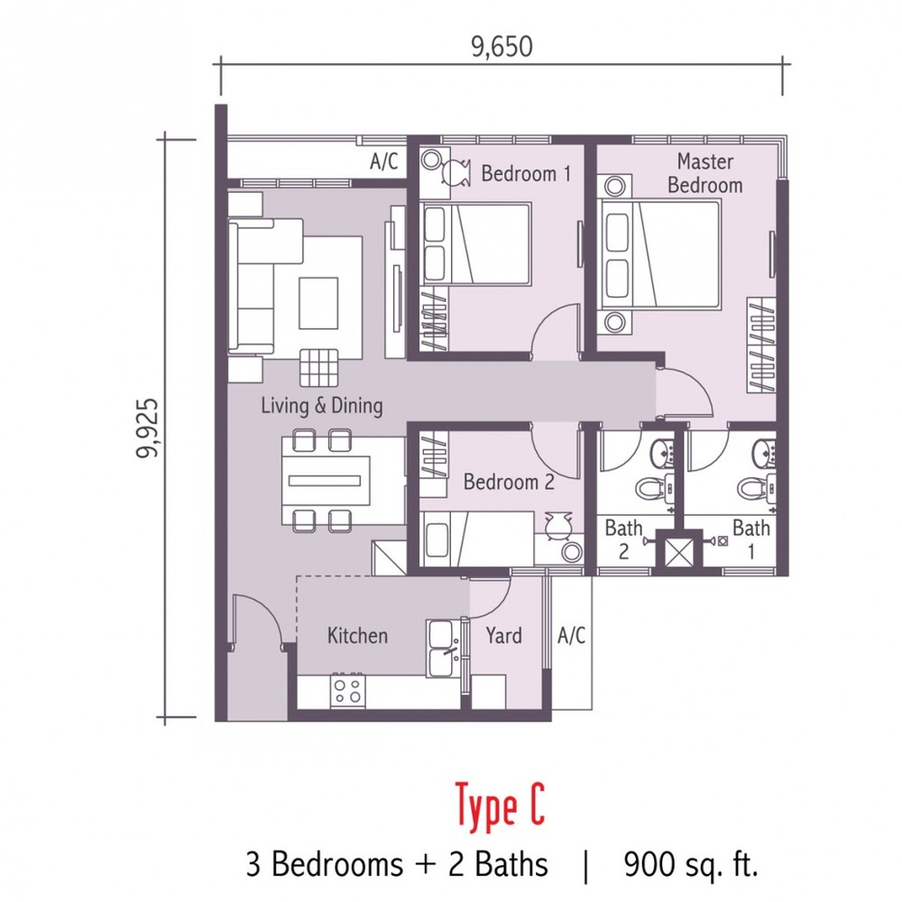 Arc @ Austin Hills Type C Floor Plan