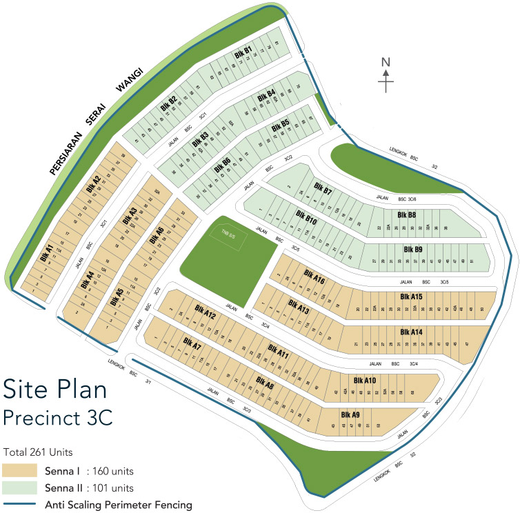 Site Plan of Senna