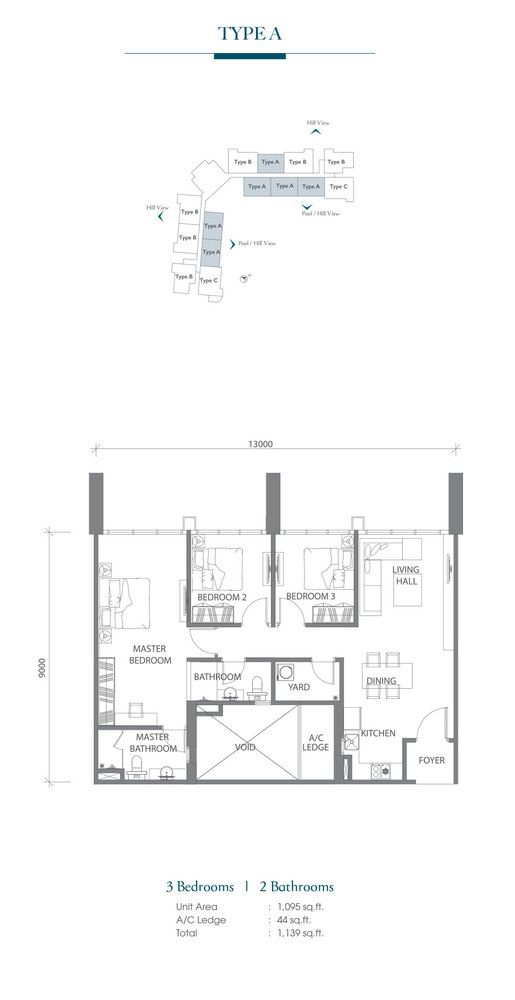 Eco Terraces Type A Floor Plan