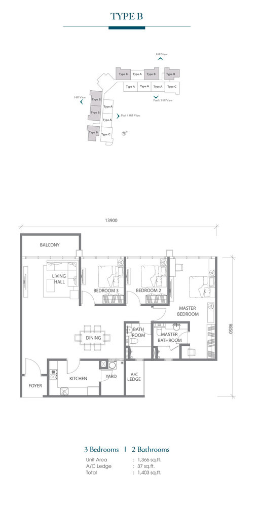 Eco Terraces Type B Floor Plan