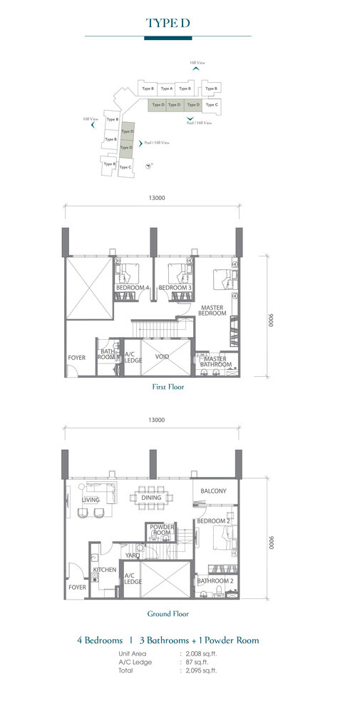 Eco Terraces Type D Floor Plan