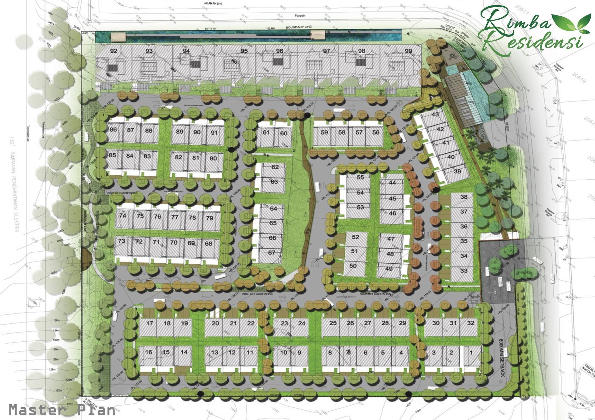 Site Plan of Rimba Residensi