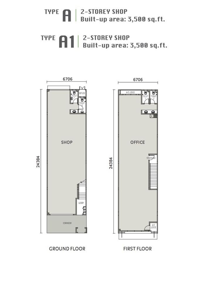 Eleven Avenue Type A & A1 Floor Plan