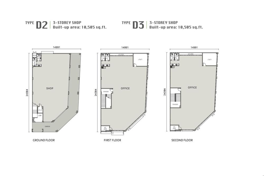 Eleven Avenue Type D2 & D3 Floor Plan