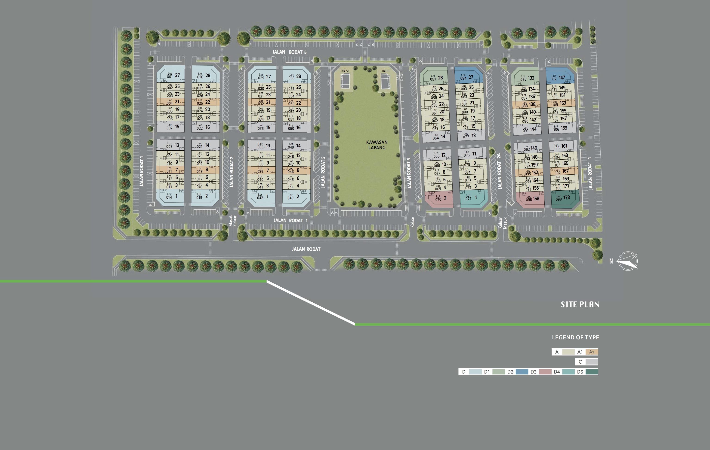 Site Plan of Eleven Avenue