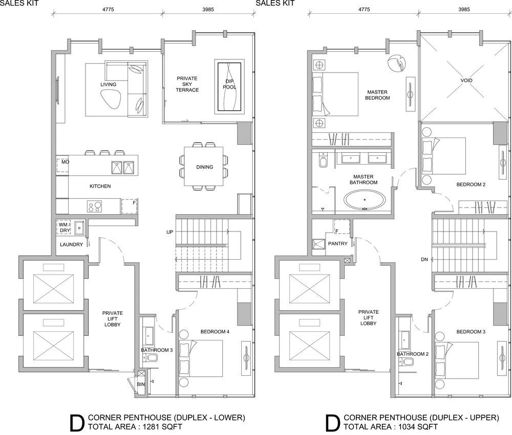City of Dreams Type D Floor Plan