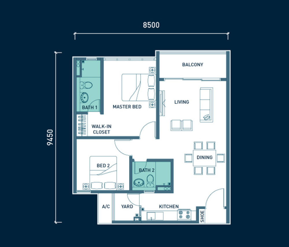 8scape Type A Floor Plan