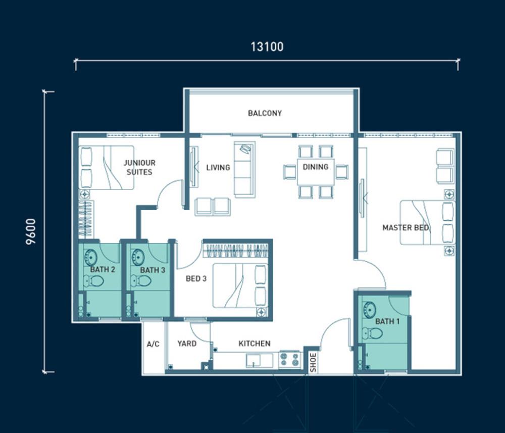 8scape Type C Floor Plan