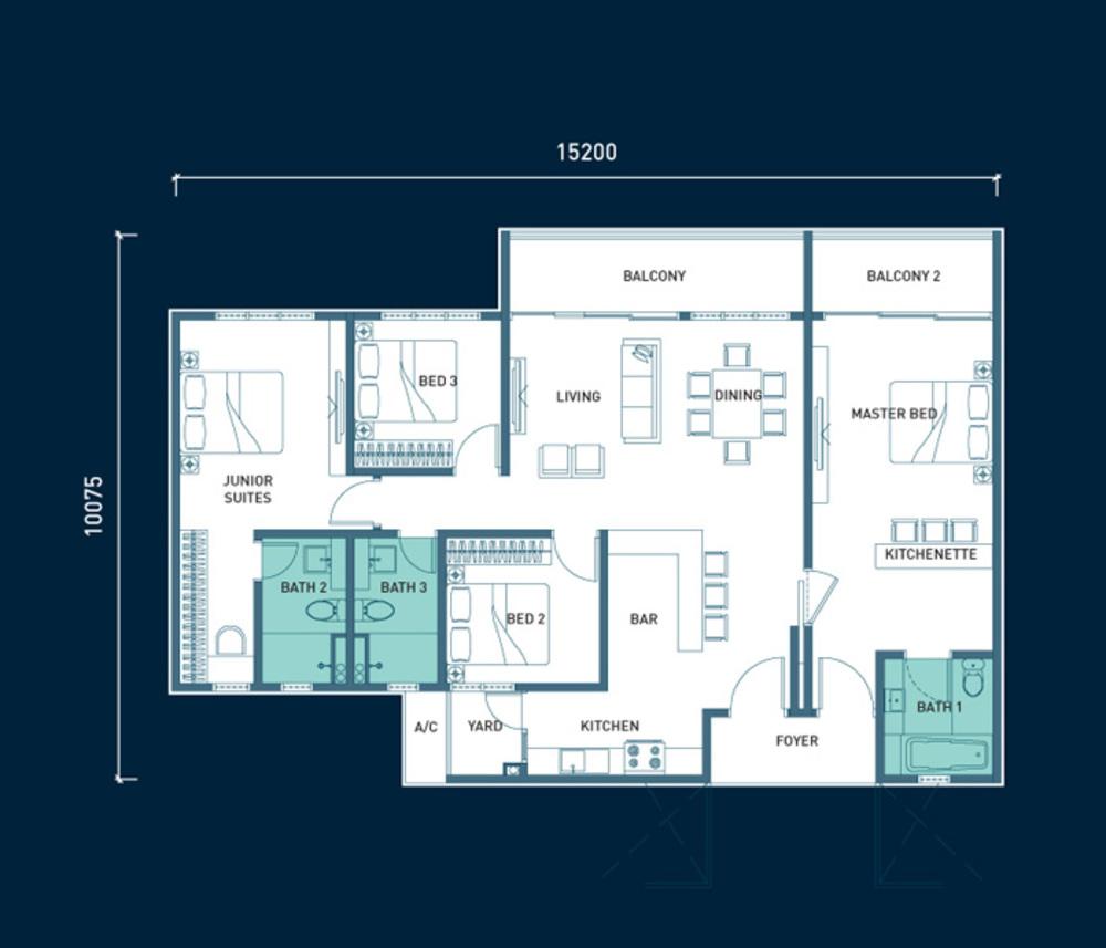 8scape Type D Floor Plan