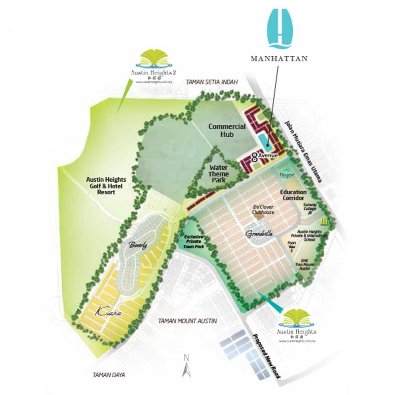 Master Plan of Manhattan @ Austin Heights