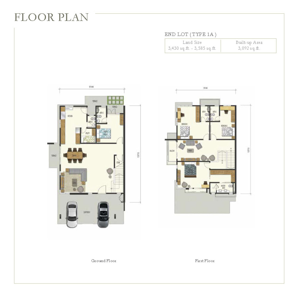 Irama Type 1A (End Lot) Floor Plan