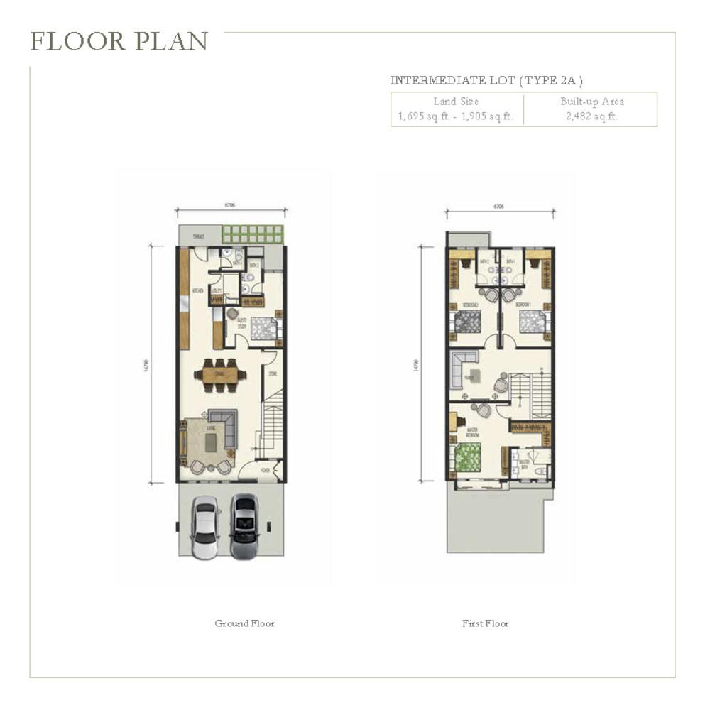 Irama Type 2A (Corner Lot) Floor Plan
