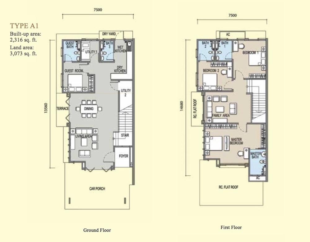 Irama Type A1 Floor Plan