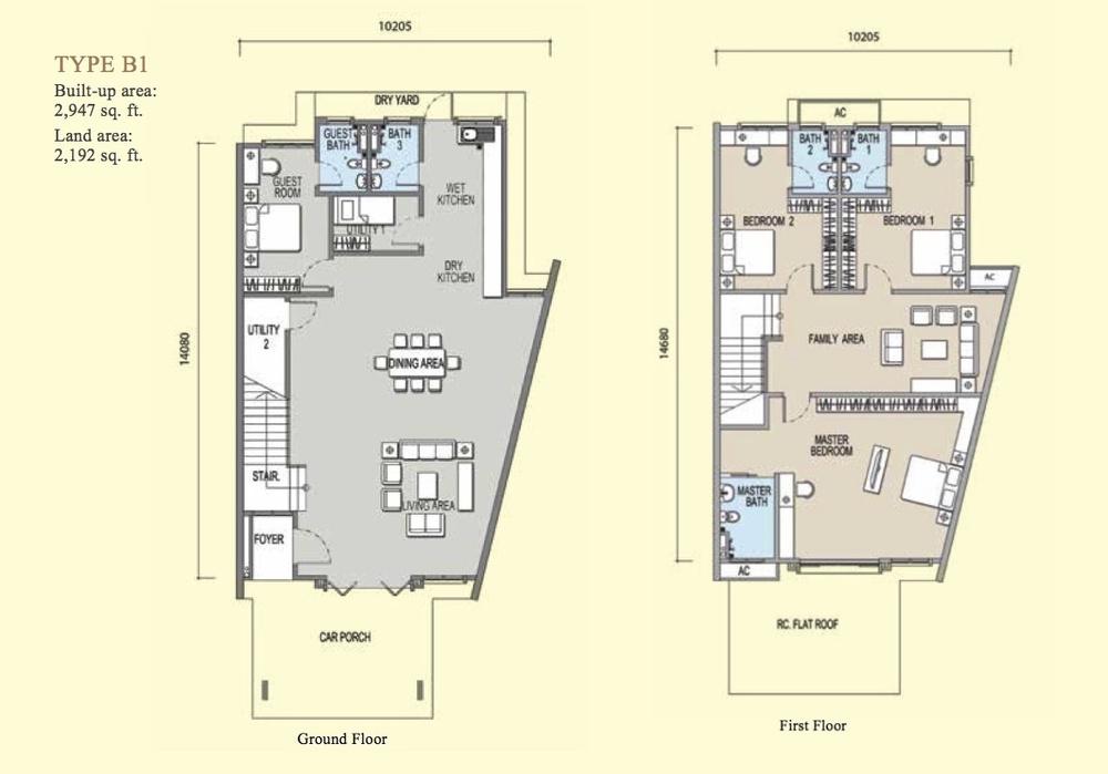 Irama Type B1 Floor Plan
