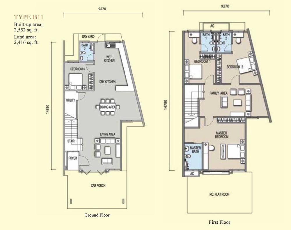Irama Type B11 Floor Plan