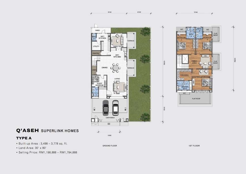 Qaseh Qaseh - Type A Floor Plan