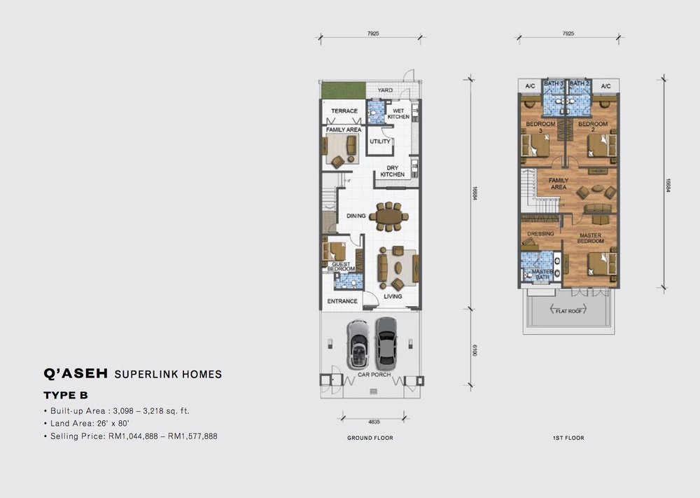 Qaseh Qaseh - Type B Floor Plan