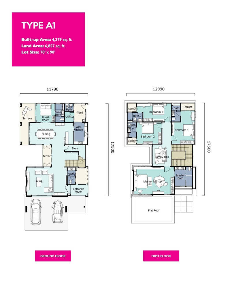 Qaseh Qaseh 2 - Type A1 Floor Plan