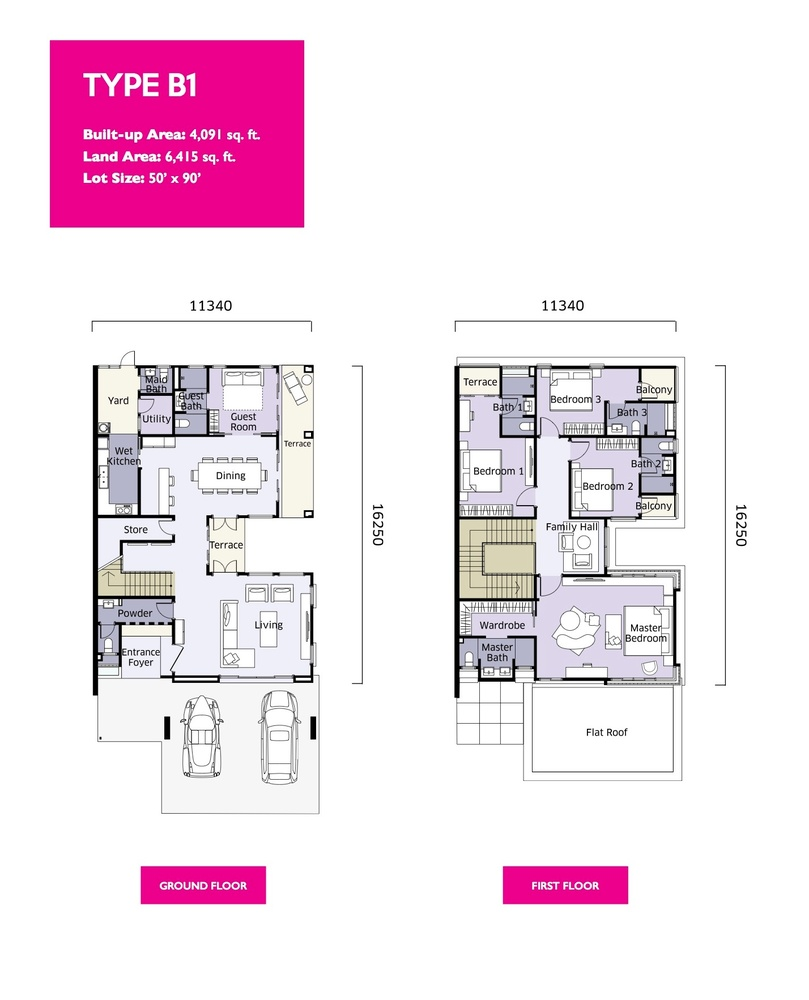 Qaseh Qaseh 2 - Type B1 Floor Plan