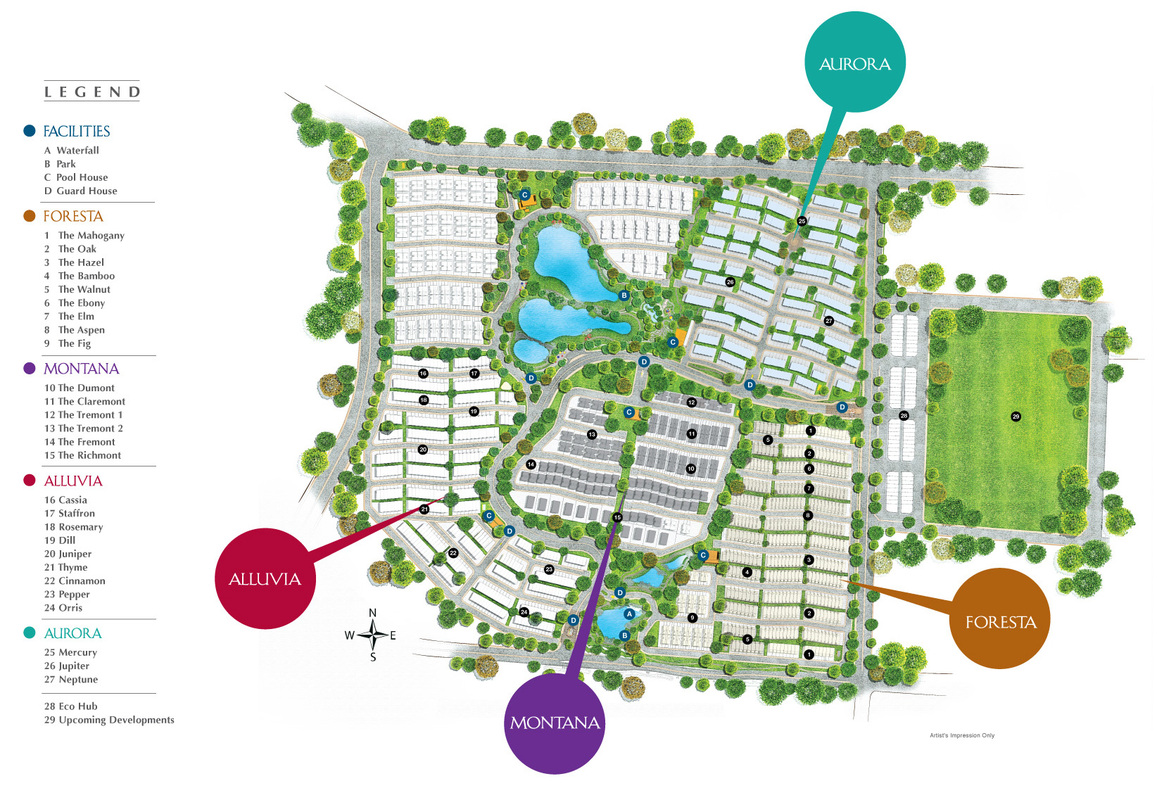 Master Plan of Setia Eco Cascadia