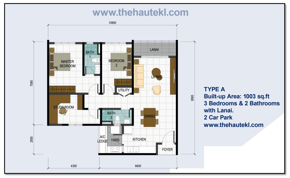 The Haute Type A/A1 Floor Plan
