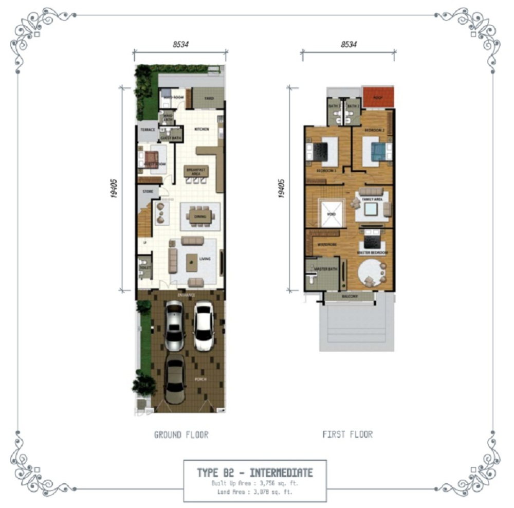 Temasya Sinar Phase 1 - Type B2 Floor Plan