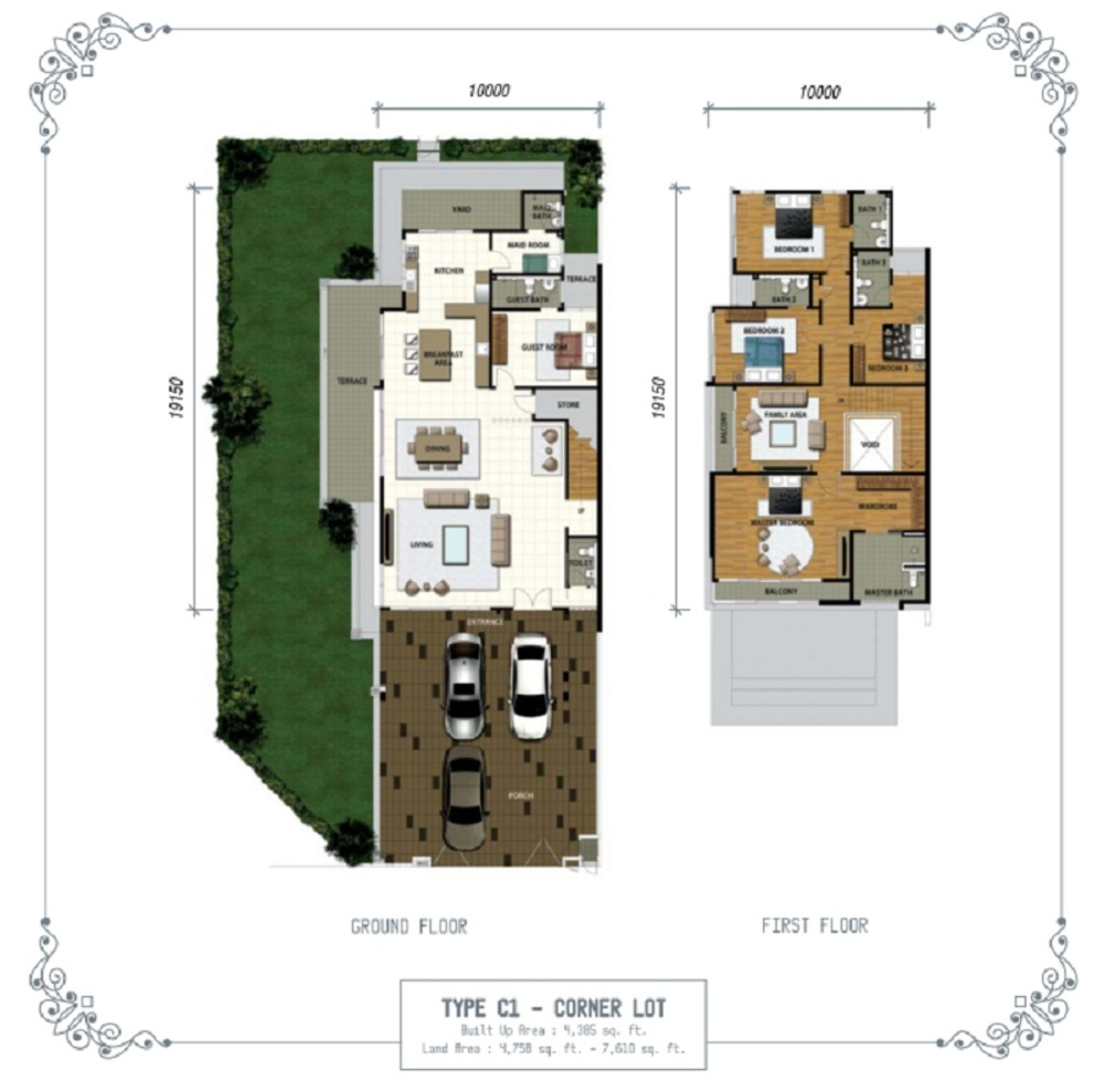 Temasya Sinar Phase 1 - Type C1 Floor Plan