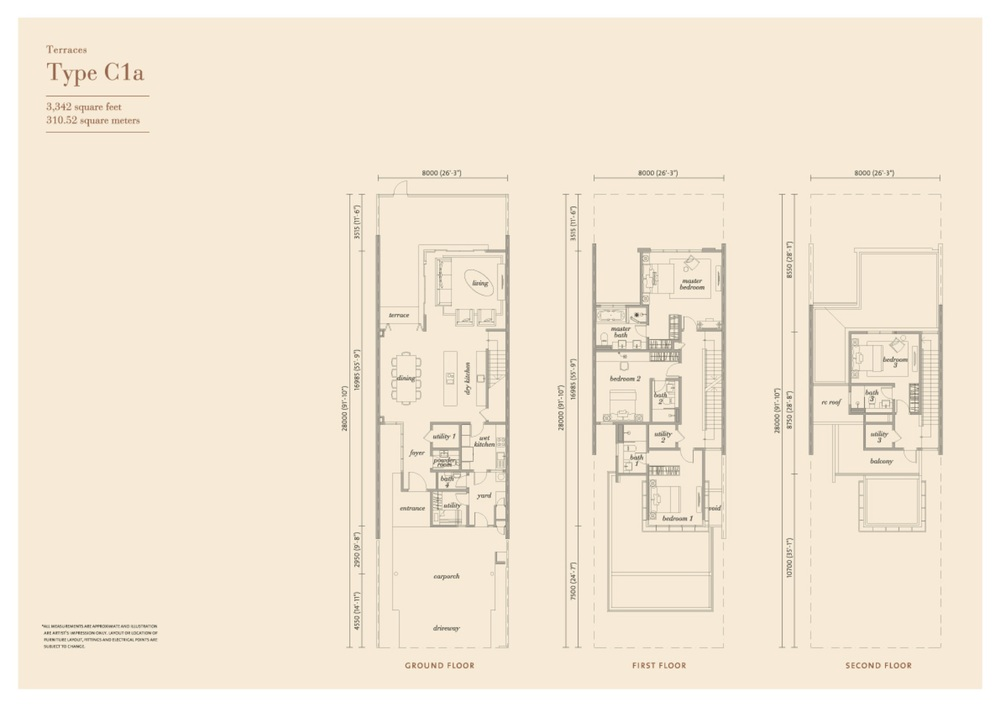 Senja Type C1a Floor Plan