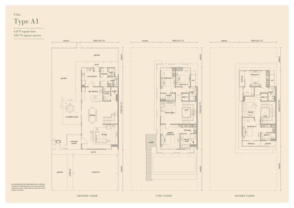 Senja Type A1 Floor Plan