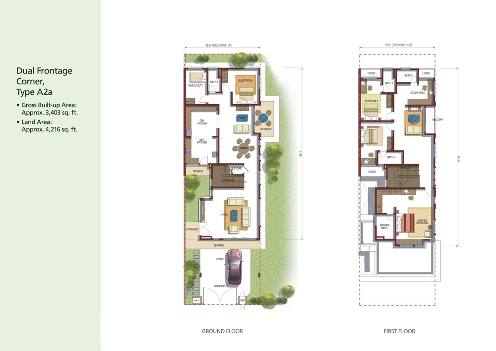 Opulenia Type A2a Floor Plan