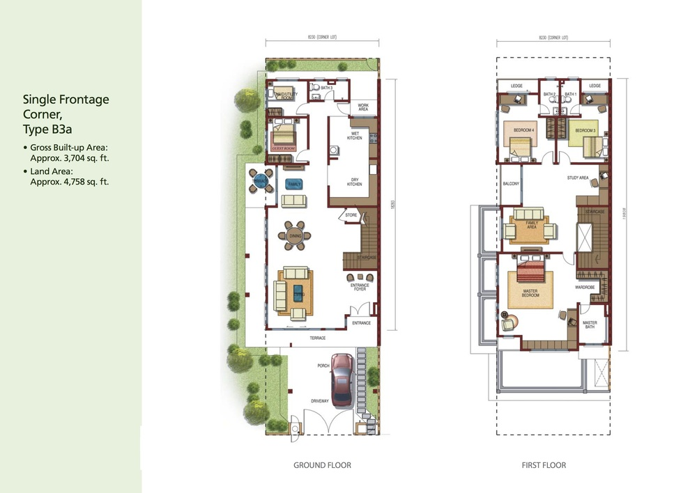 Opulenia Type B3a Floor Plan