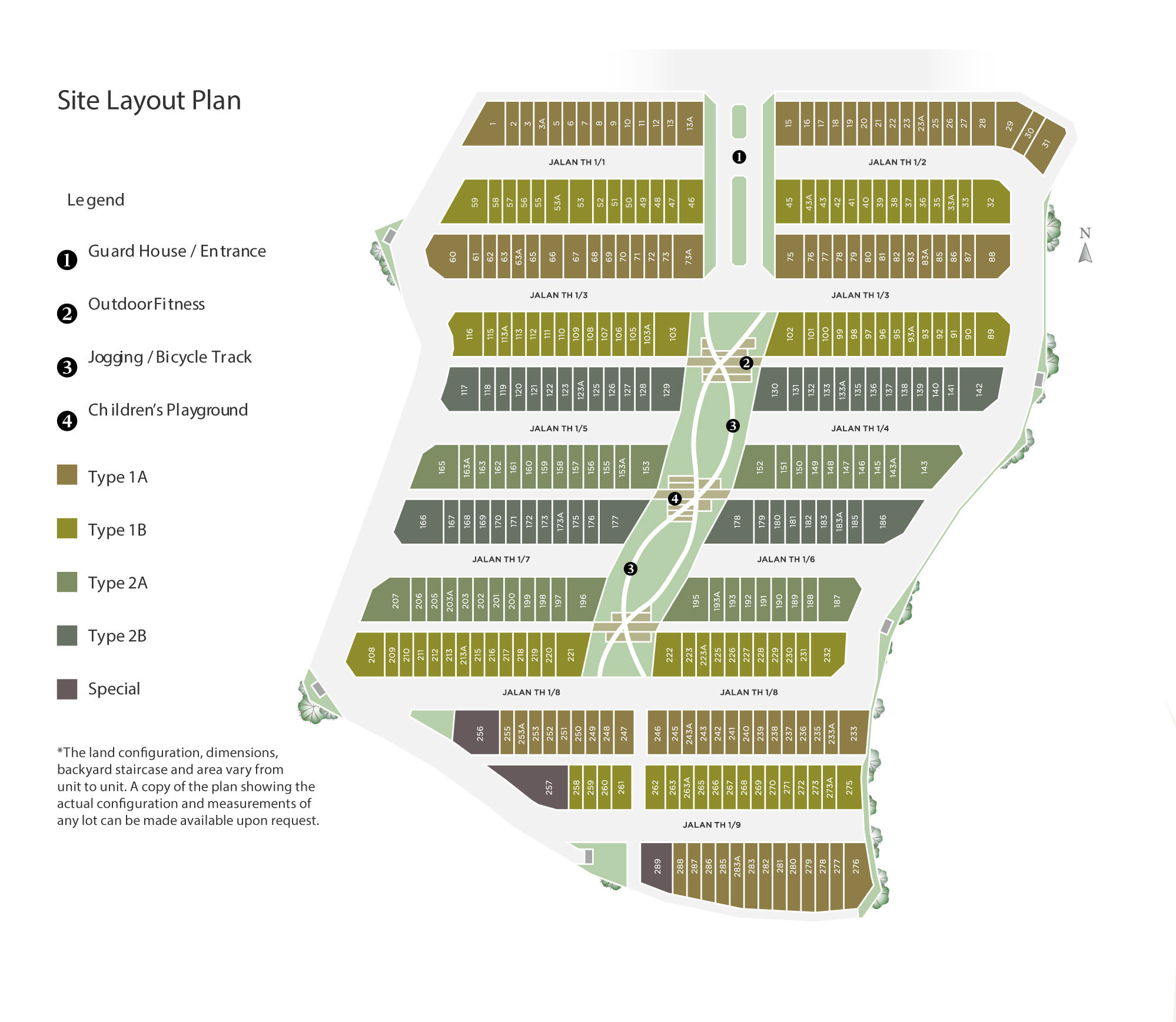 Site Plan of Fairfield Residences @ Tropicana Heights