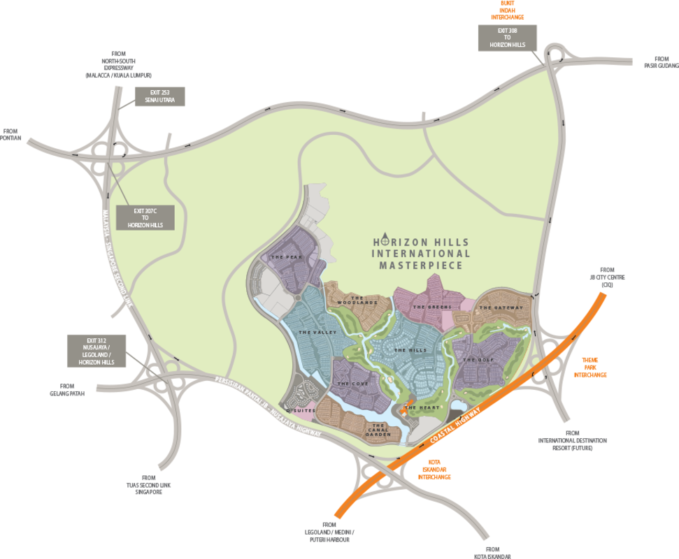 Master Plan of The Hills