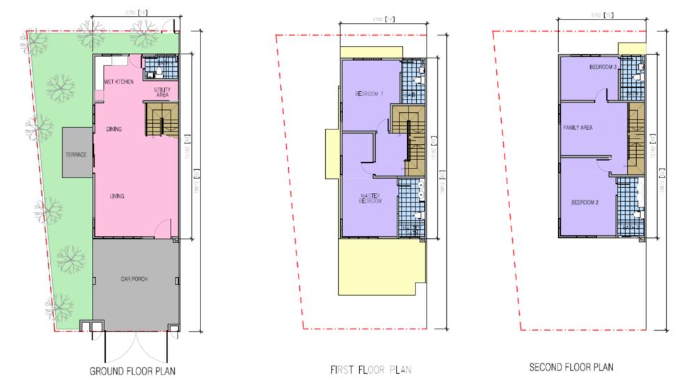 Kazen @ Taman Saujana Puchong Type A Floor Plan