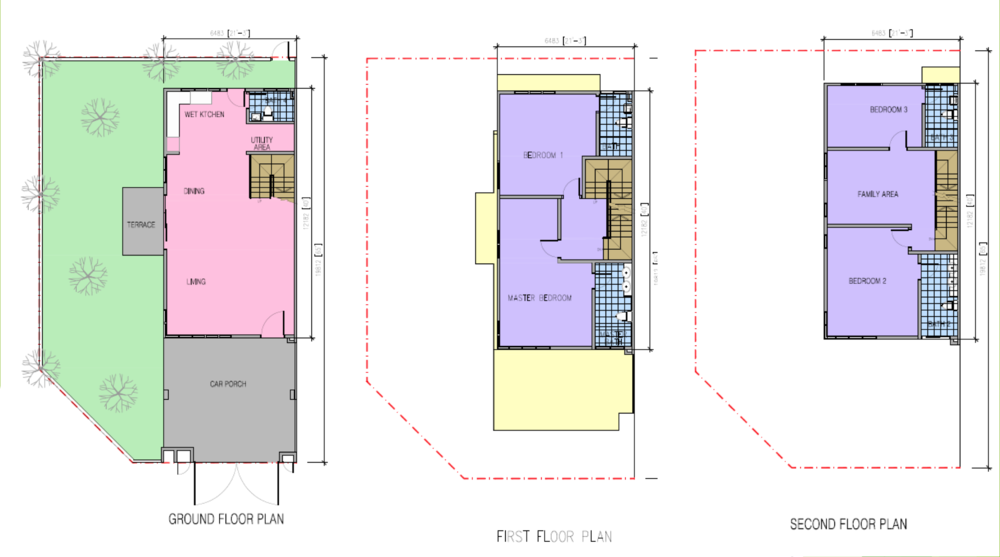 Kazen @ Taman Saujana Puchong Type B Floor Plan