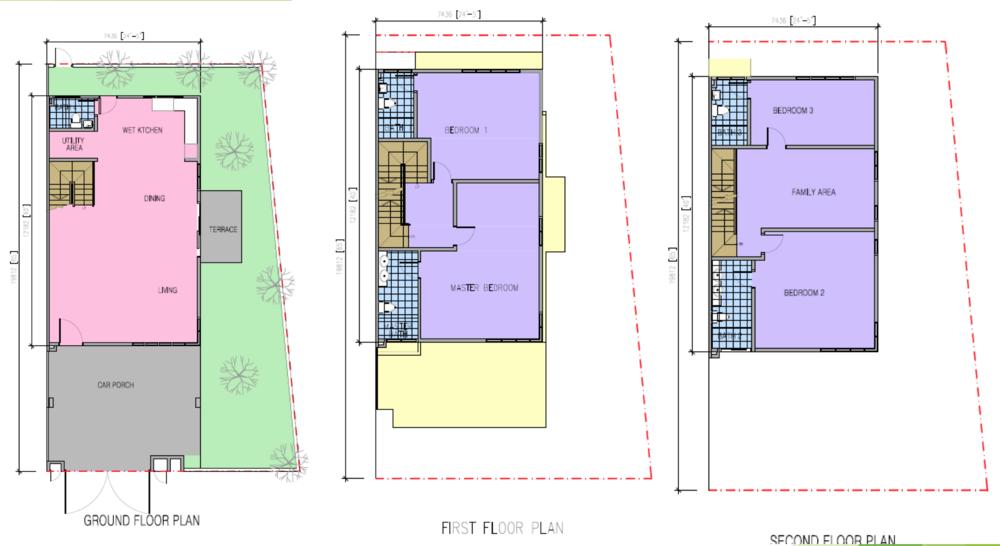 Kazen @ Taman Saujana Puchong Type C Floor Plan